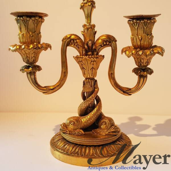 Antique candelabra with two branches