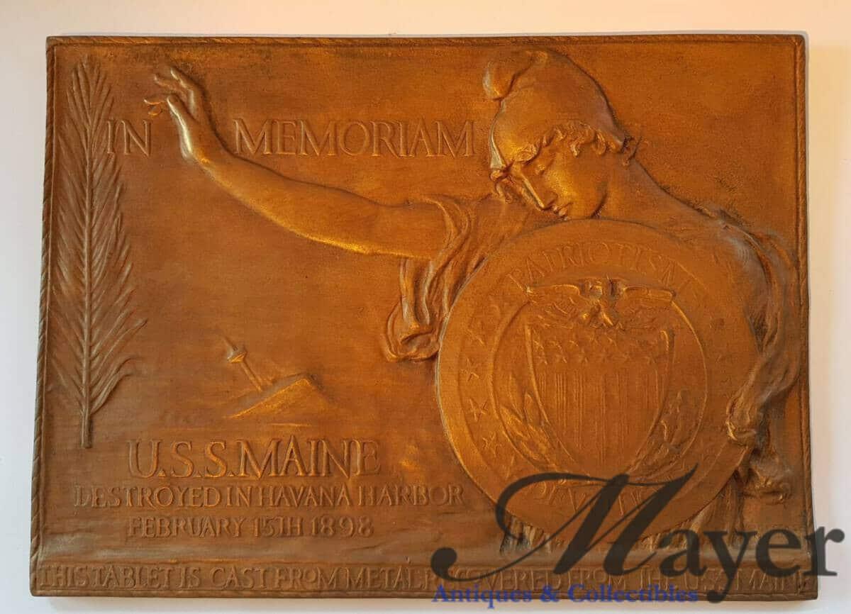 USS Maine Memorial Brass Plaque