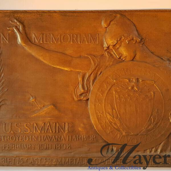 USS Maine Memorial Brass Plaque