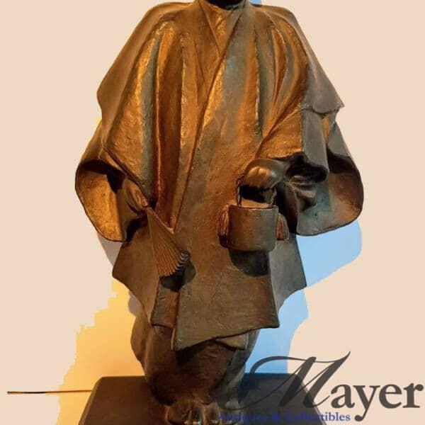 Japanese Kabuki Dancer Bronze Sculpture