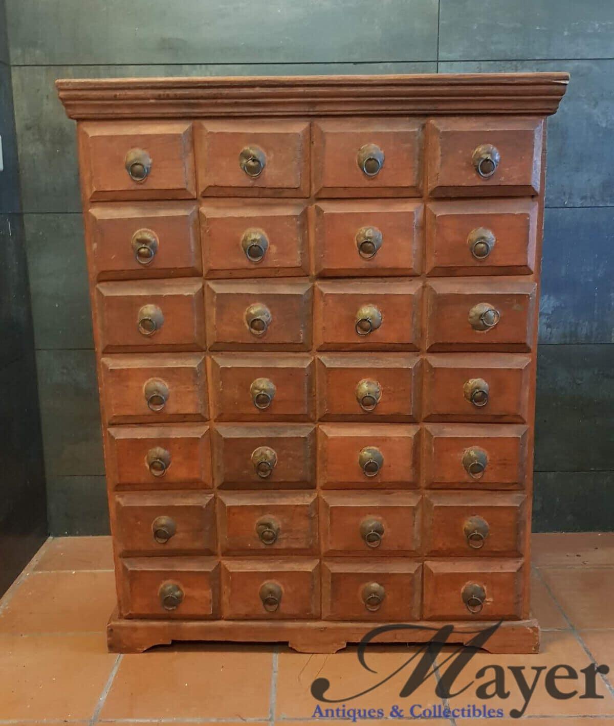 Indian Wooden Pigeon Dresser