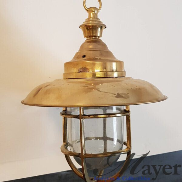 Hanging Nautical Brass Lamp With Chain