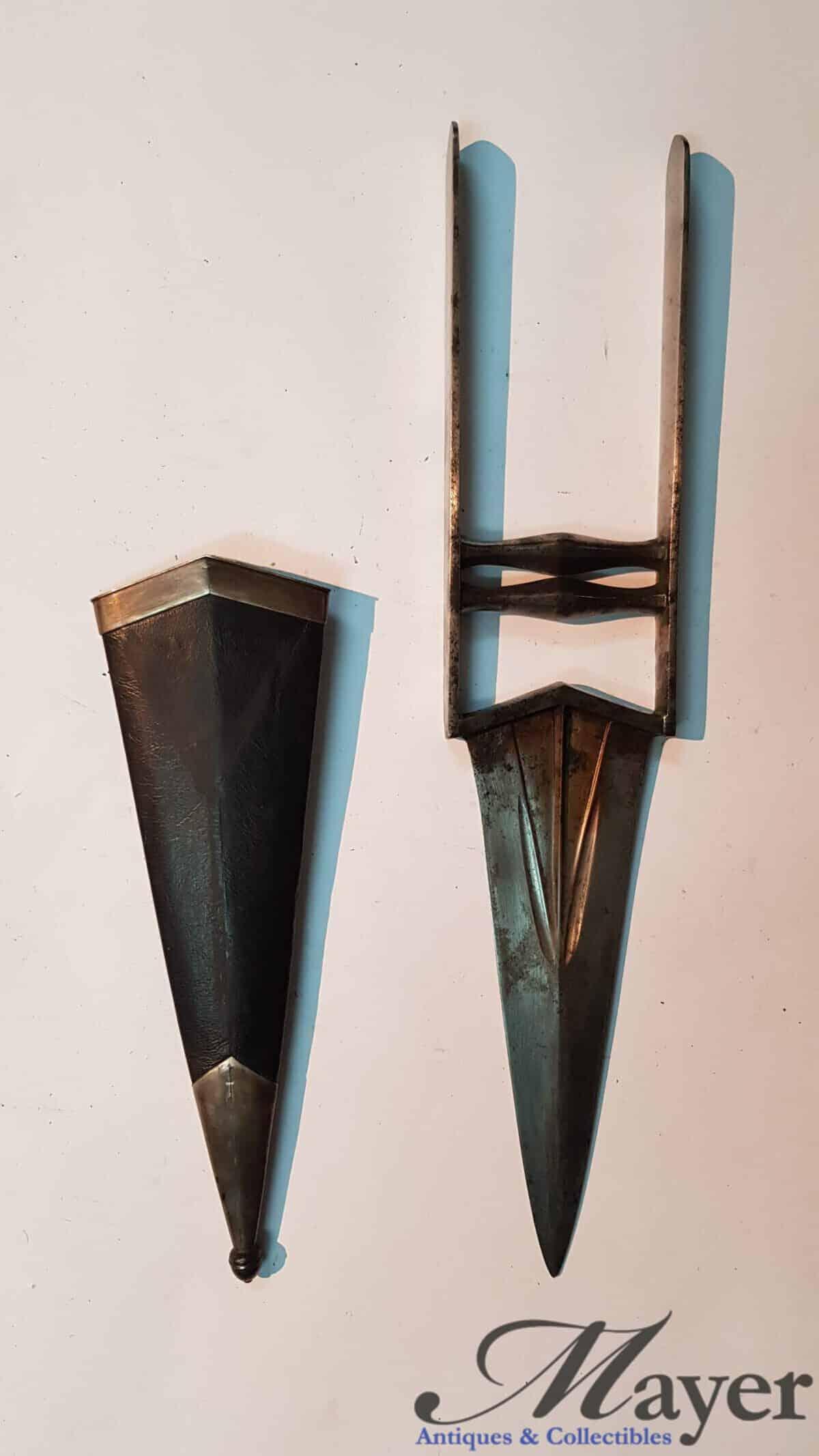 Indian Katar Dagger With Scabbard