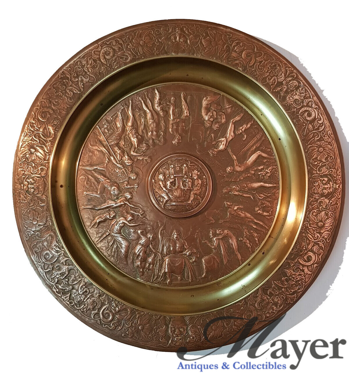 Greek Mythology Copper Plate