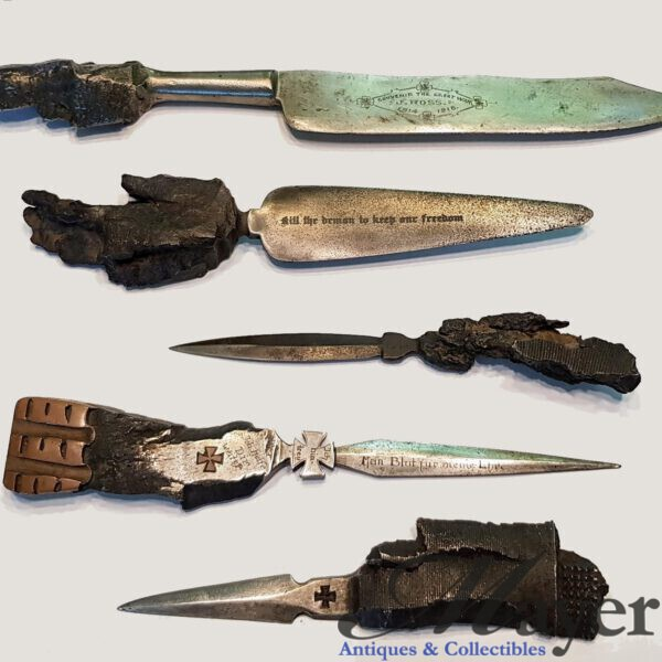 World War One Trench Art Knives Set
