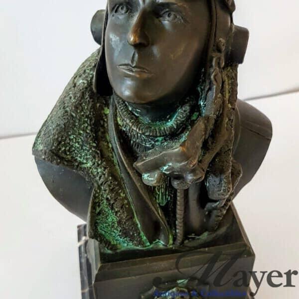 RAF Bronze Bust of Spitfire Pilot Douglas Bader
