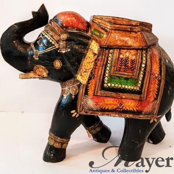 Indian elephant wooden sculpture