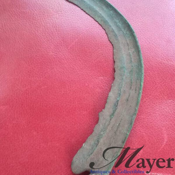 Ancient Celtic Druid Ritual Bronze Sickle of the Hallstatt Culture