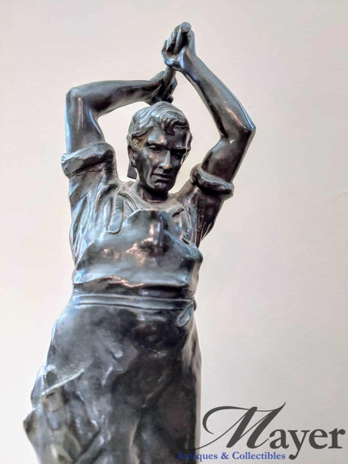 German Blacksmith Bronze Sculpture